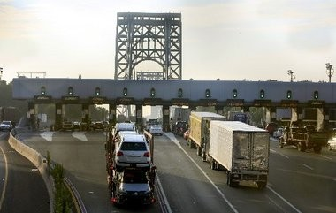 A Port Authority official has resigned just days before a hearing on a controversy involving lane closures on the George Washington Bridge (pictured above)
