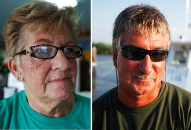 Among the Cumberland County residents whose livelihoods were severely affected by Hurricane Sandy are Betty Higbee, left, owner of Higbee's Marina Restaurant in Fortescue, and Capt. Jim Higbee, right, owner of the boat Miss Fortescue.
