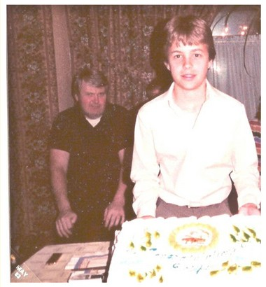 The Rev. Peter Cheplic, left, allegedly molested Joe Capozzi for several years. The two are seen here on Capozzi's 14th birthday in the early 1980s.