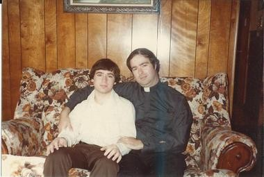 The Rev. Kenneth L. Martin, right, is seen here with a teenage Mark Crawford, now New Jersey director of the Survivors Network of those Abused by Priests. Martin allegedly abused Crawford for more than three years, beginning when he was 12. Martin is now a conductor for NJ Transit.