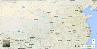 The Rev. Ray Leonard spent four years in Qinghai Province, outlined in red in the above map. Click 'view full size' to see this larger in a popup window.