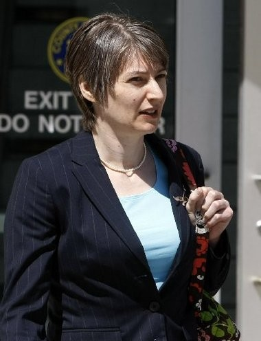 Rutgers-Newark professor Anna Stubblefield leaves state Superior Court following a hearing today in Newark. Stubblefield is facing charges of aggravated sexual assault.