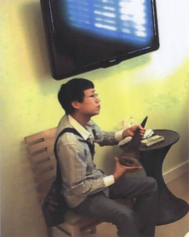 This hidden camera photograph from January 2013 shows Zhifei Li at a Miami Beach hotel, where federal prosecutors say he paid $59,000 for two endangered black rhinoceros horns.