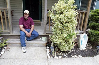 Chris Naples, seen here at his home in New Gretna, contends the Diocese of Trenton knew The Rev. Terence McAlinden was a danger to boys.