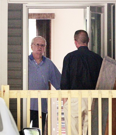 The Rev. Terence McAlinden, left, declined to speak to a reporter who knocked on his door earlier this year. The Diocese of Trenton has paid $610,000 to a Burlington County man who says McAlinden molested him for more than a decade. (Ed Murray   NJ Advance Media for NJ.com)