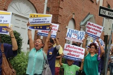 Protesters call for immigration reform during a 2013 rally in Morristown
