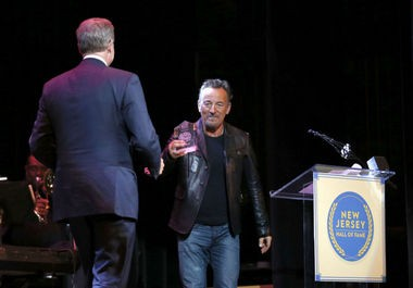 Bruce Springsteen helped induct Brian Williams into the New Jersey Hall of Fame this past November in Asbury Park. (Amanda Marzullo   NJ Advance Media for NJ.com)