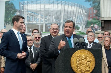 Gov. Chris Christie, who shares control of the Port Authority with the governor of New York, announced a $256 million plan for a new Harrison PATH station in August 2013. (Reena Rose Sibayan | The Jersey Journal)