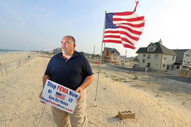 George Kasimos is one of the founders of the group Stop FEMA Now, a grassroots organization formed in Toms River to fight the Federal Emergency Management Agency after flood insurance rates and flood-zone maps caused insurance rates to skyrocket after Hurricane Sandy.