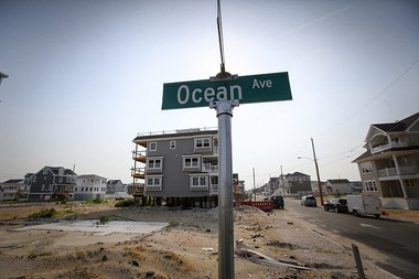 The scene on Ocean Avenue in the Ortley Beach section of Toms River Township almost 30 months after Hurricane Sandy.