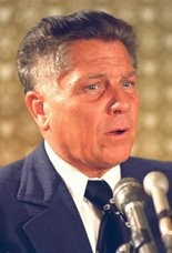 Jimmy Hoffa is shown in 1974 file photo. A report has surfaced stating that Hoffa, who disappeared 40 years ago, might have been dumped in a drum near the Pulaski Skyway.