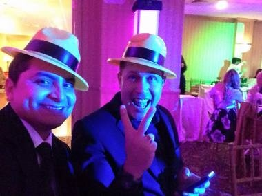 The Rev. Alex Orozco, right, poses in a photo on New Year's Eve last year with Juancho Munoz Montoya, a former seminarian at Seton Hall University and friend from Colombia. (Facebook photo)