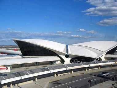 The vacant TWA Flight Center at John F. Kennedy International Airport as it looks today.