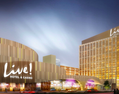 This rendering provided by planners of what could be Philadelphia's second casinos shows plans for the facility that is being developed by Cordish Companies and Greenwood Racing, Inc.