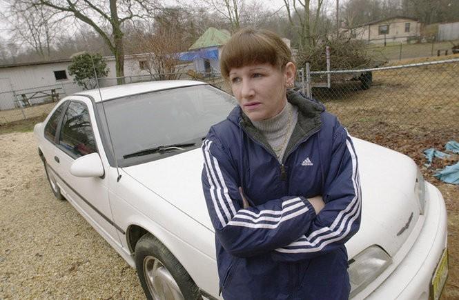 Carol Thomas of Millville, seen here in this 2001 file photo, spent two years trying to get back her Ford Thunderbird, which was seized after her son used it to sell marijuana to an undercover cop.