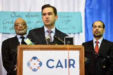 Jersey City Mayor Steven Fulop, seen here at a Dec. 3 press conference in which religious and political leaders denounced Donald Trump, says there is no record of Muslim celebrations in Jersey City on 9/11. (Reena Rose Sibayan | The Jersey Journa)l