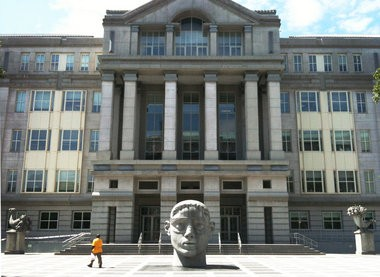 The Martin Luther King U.S. Courthouse in Newark, where six members of the MS-13 street gang were sentenced this week to federal prison terms of varying length.