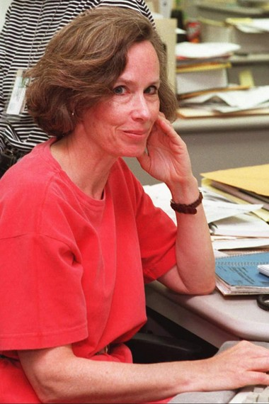 Mary Jo Patterson in the Star-Ledger newsroom after a trip to Portugal for the newspaper in 1996. (Rich Krauss | Star-Ledger file photo)