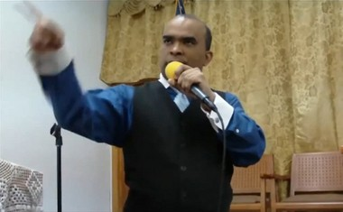 Gregorio Martinez, in a scene from one of several Youtube videos of him preaching before he was convicted of molesting a 13-year-old boy in February 2015.