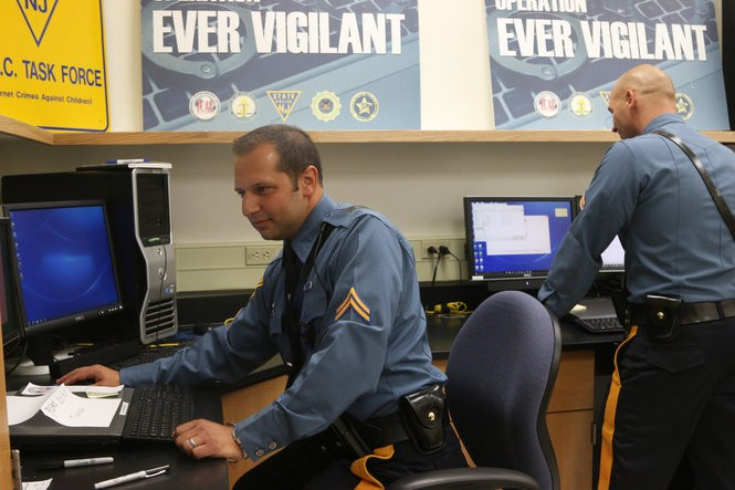 State Police Detectives Brian Kearns and Chris Camm are members of a regional task force targeting those who look to do harm to children online.