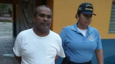 Gregorio Martinez is taken into custody in Danli, Honduras, by the Honduran National Police. Martinez, convicted of molesting a 13-year-old boy in New Jersey, is now back on U.S. soil to face punishment. (Courtesy Honduran National Police)