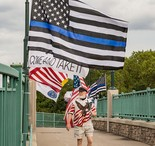The thin blue line flag.