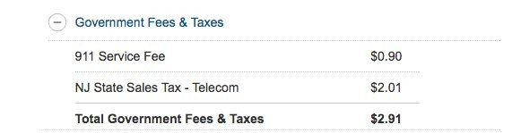 This is how the 911 tax commonly appears on phone bills.