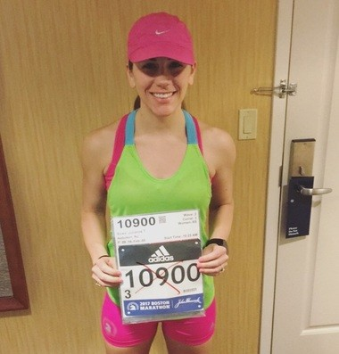 Julianne Bowe before Boston's 121st Marathon on Monday