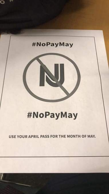 Angry NJ Transit riders urge 'NoPayMay' protest for shoddy