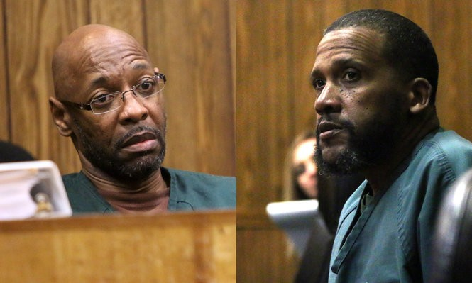 Eric Kelley, left, and Ralph Lee, right, are serving life sentences for the 1993 murder of a Paterson man, Tito Merino.