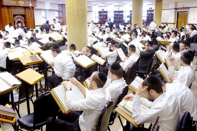 A classroom inside Beth Medrash Govoha. Students spend much of the day in large study sessions. (Aristide Economopoulos   NJ Advance Media for NJ.com)