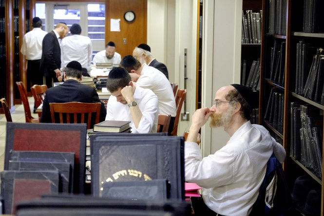 Students inside a library at Beth Medrash Govoha. The yeshiva has played a major role in the growing Jewish population in Lakewood. (Aristide Economopoulos   NJ Advance Media for NJ.com)