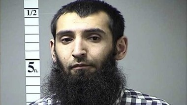 Sayfullo Saipov, the man accused of killing at least 8 people Tuesday. (St. Charles County Department of Corrections | KMOV via AP)