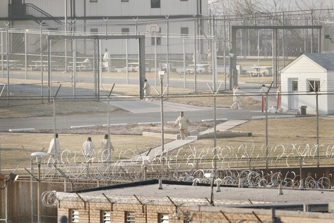 Women inmates move between the areas of the maximum and medium security compounds at the Edna Mahan Women's Correctional Facility in Clinton. (Jerry McCrea | Star-Ledger file photo)