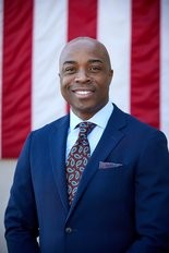 Antony Ghee, Army Reserve JAG officer, running for the Republican nomination in the 11th District.