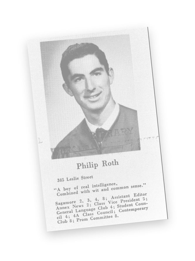 Philip Roth's high school yearbook photo from Weequahic High school. (Star-Ledger file photo)
