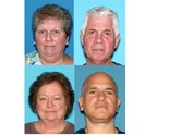 Rhea Jolly, 61, of Toms River (top left); Ralph Lubosco, 66, (top right); Eileen Lubosco, 67, of Cream Ridge (bottom left); and, Peter Raia Jr., 51, of Lodi (bottom right).