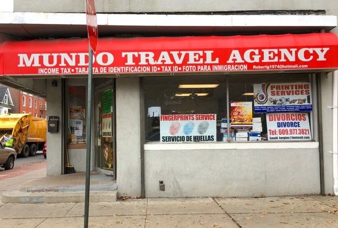 One of the targeted businesses, Mundo Travel Agency in Trenton. (Kevin Shea | NJ Advance Media)