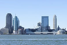 Mack-Cali Realty Corp.'s platinum-certified Harborside Plaza 2 and 101 Hudson St. are located in Jersey City.
