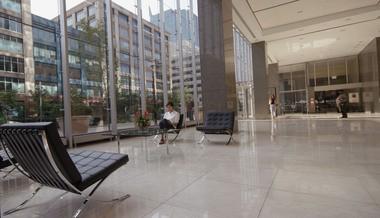 The lobby of Mack-Cali's Harborside Plaza.