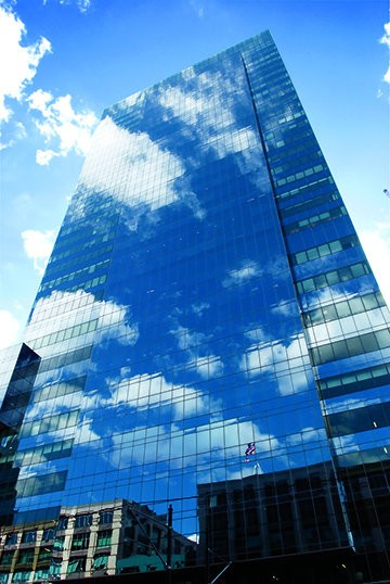 Mack-Cali Realty Corp.'s Harborside Plaza 5, a Class-A office tower on the Jersey City waterfront.