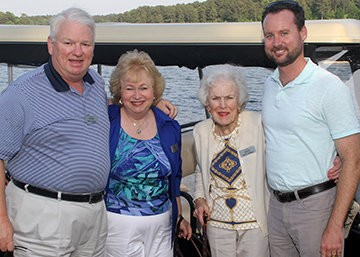 From left, Mannington Chairman Keith Campbell and his wife Shirley, his mother Buffy and nephew Ian.