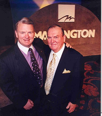 Keith Campbell, current chairman of the board and his father, the late Johnny Campbell, who served as chairman of Mannington Mills from 1969-1991.