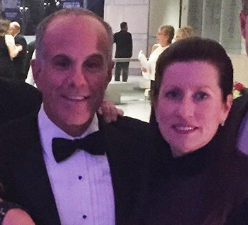 Maryanne Adams, president and CEO of Avalon Flooring with Jay Kopelson, vice president of Corporate Accounts at Mannington attend Mannington's Centennial Gala.