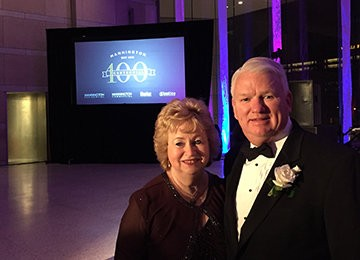 Keith and Shirley Campbell at Mannington Mills' 100th Anniversary Gala in 2015.