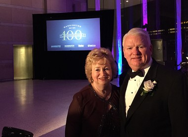 Keith and Shirley Campbell at the Mannington Centennial Gala in 2015. Generous philanthropists, they drive the Mannington culture in treating everyone like part of the family.
