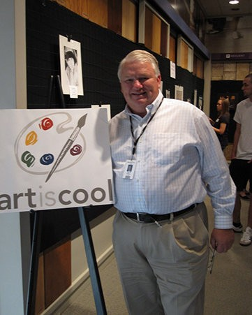 Keith Campbell proudly hosts the companyas Art is Cool program each spring.