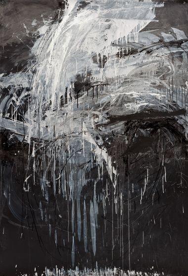 "â6.6.2011 10pmâ by Erin Wiersma, graphite, charcoal, pigment dispersion on paper, 72"" x 50"" (2011)"