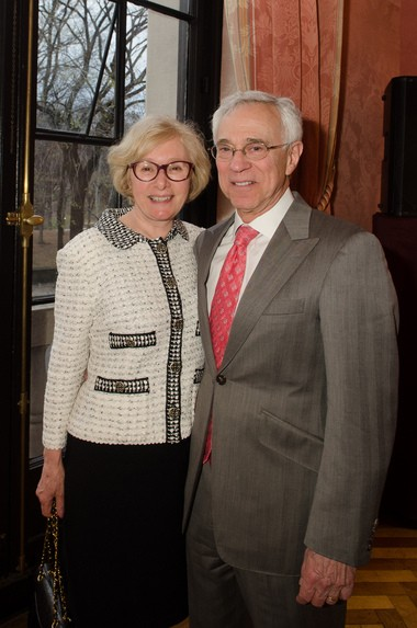 Colonel Jack Jacobs (U.S. Army retired), a Medal of Honor recipient and military analyst for NBC/MSNBC News, will be the honored guest at the French Alliance Ball, benefitting the Jacobus Vanderveer House & Museum, May 16, in Bedminster. Pictured (from left) is Susan Jacobs and Colonel Jacobs. (courtesy photo)