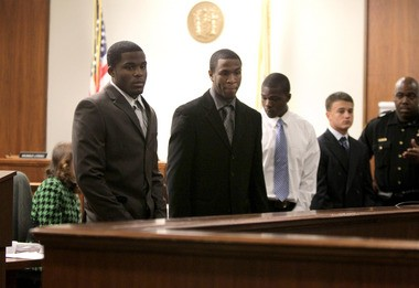 Christian Tinli, Julian Daley, Cash Johnson and Christopher Conway during Steven Contrearas' trial last year